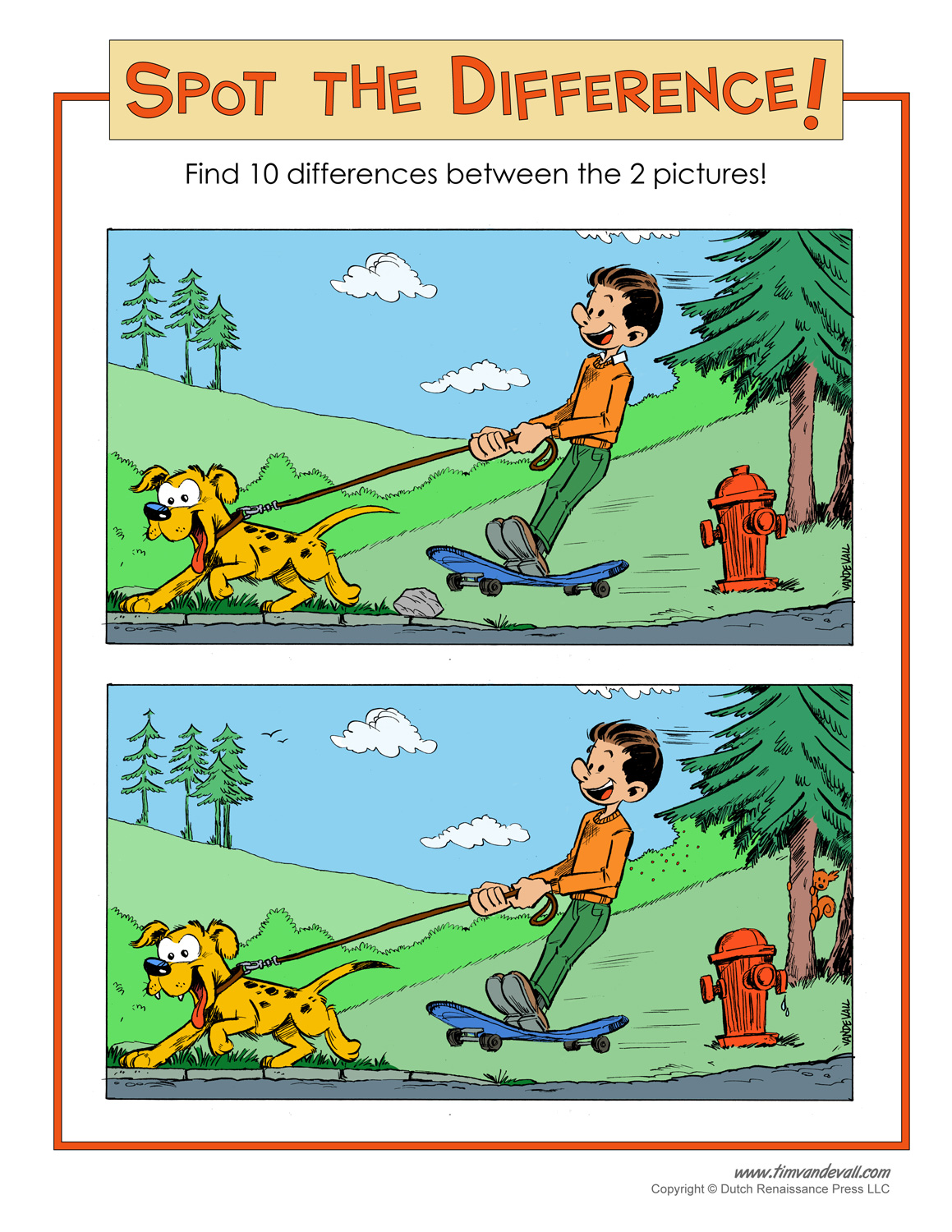 Free Printable Spot The Difference Worksheets : Spot the difference printable
