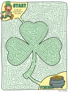 St. Patrick's Day Shamrock Maze