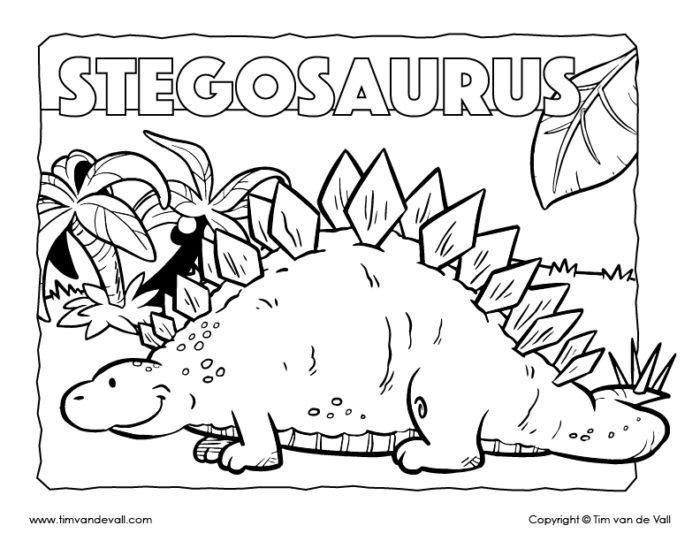 free printable dinosaur coloring pages for kids tim 39 s printables. Black Bedroom Furniture Sets. Home Design Ideas