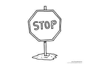 Stop Sign Template Tims Printables