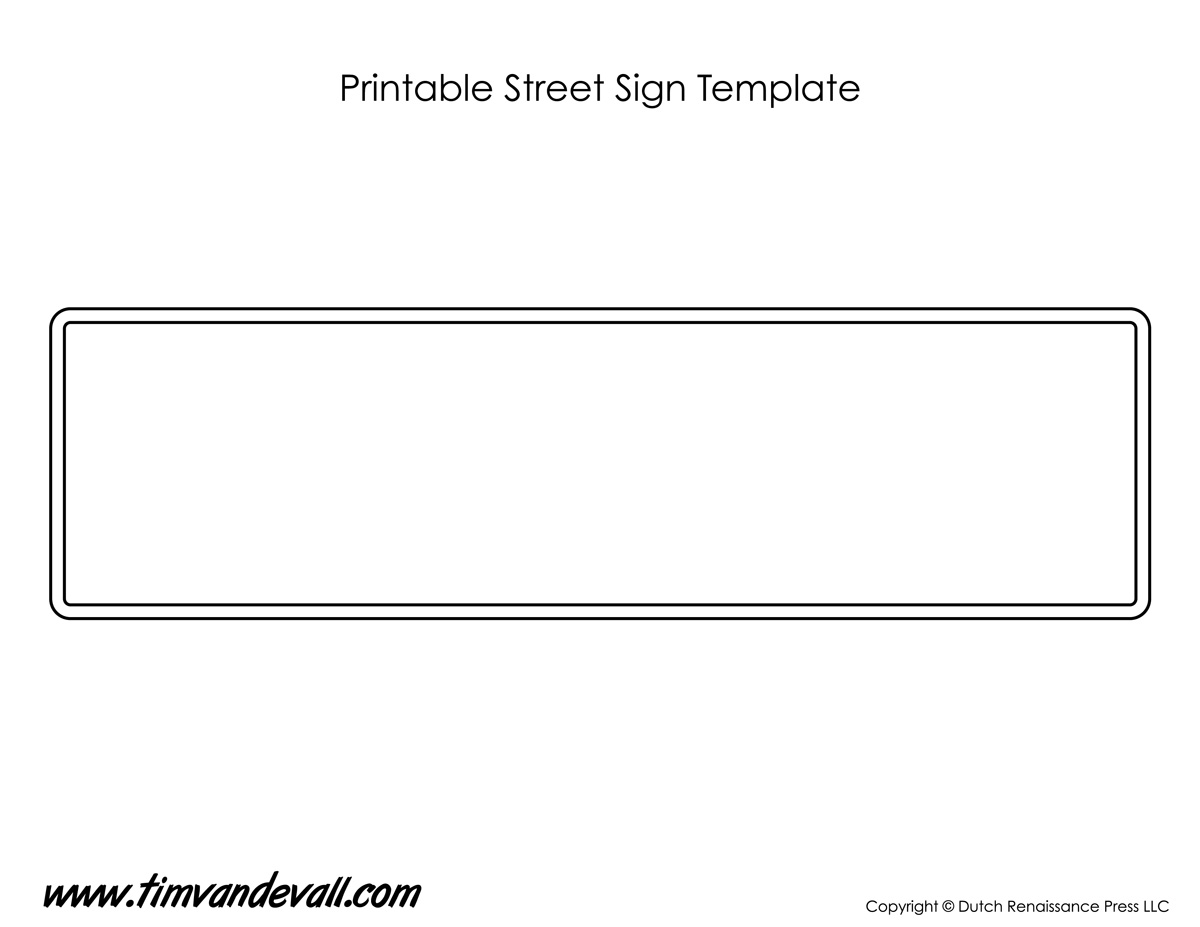 Street Sign Template Tim S Printables