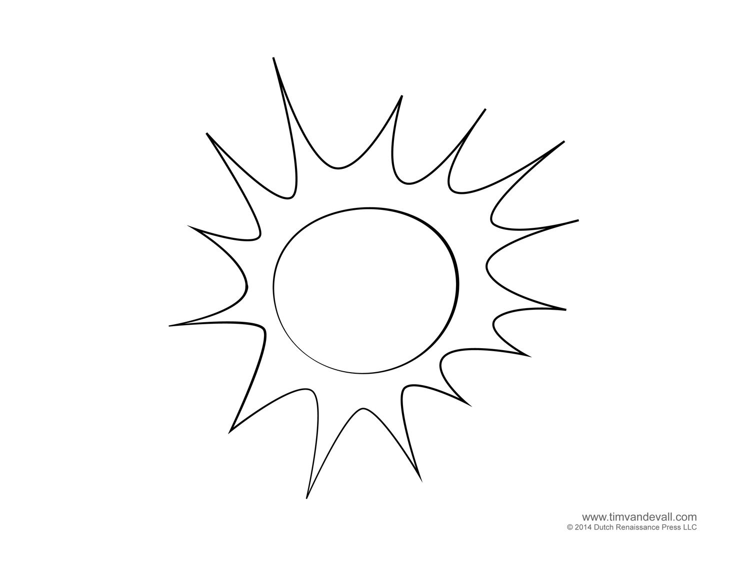 free sun coloring pages - sun template for kids images