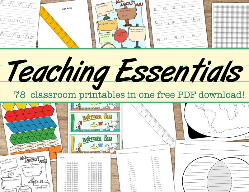 Free Classroom Printables PDF Bundle