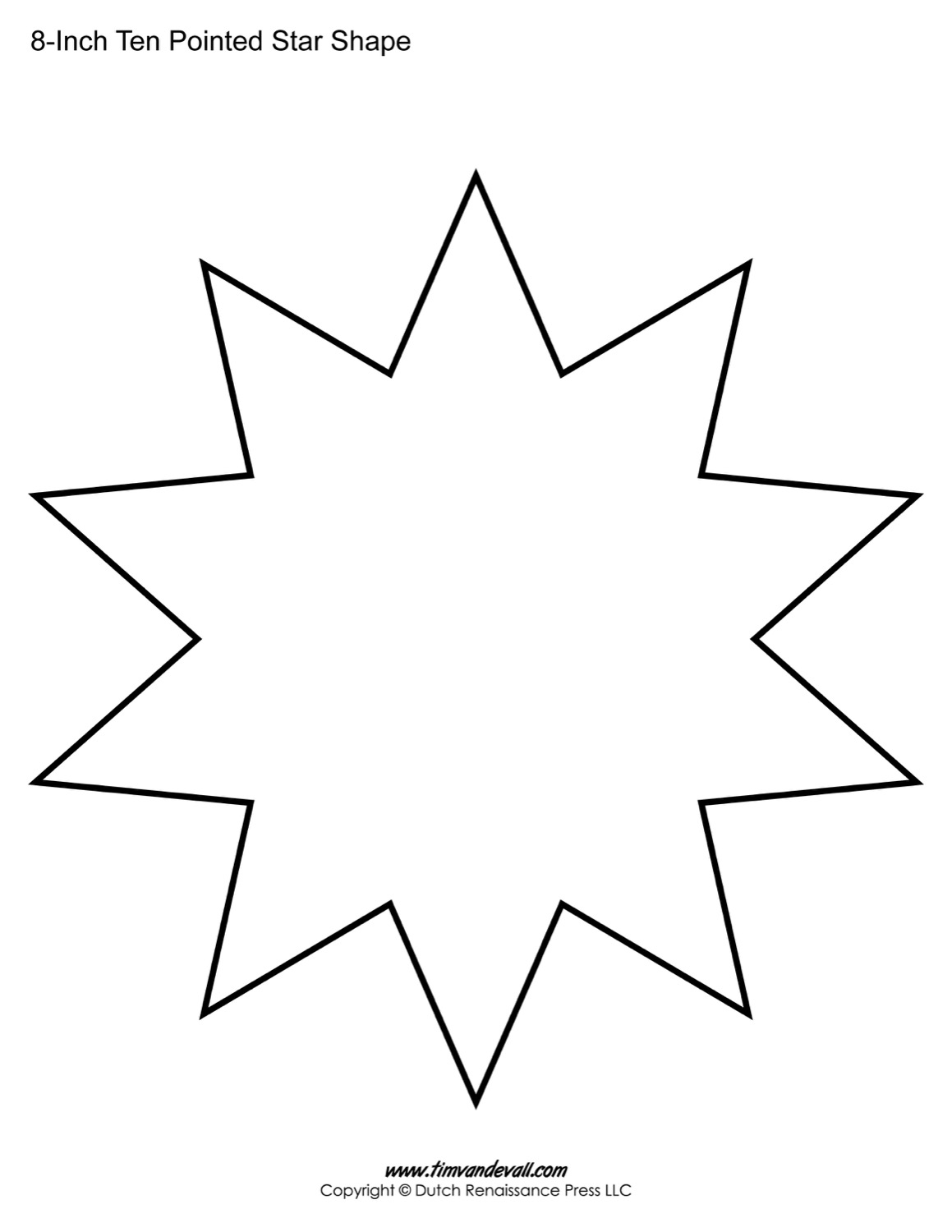ten sided star shape