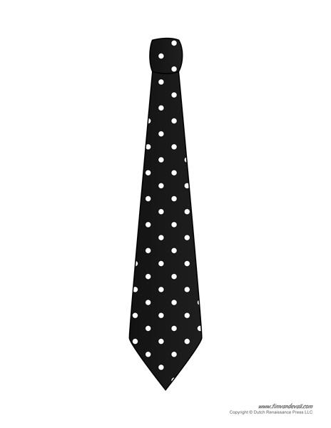 Tie Printable Template