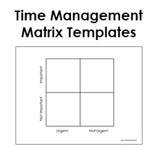 Blank eisenhower matrix template pdf time management matrix for Time management grid template