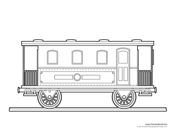 train template printable