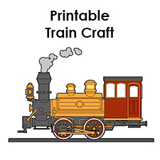 Printable Train Template Free Train Craft For A Train Birthday Party