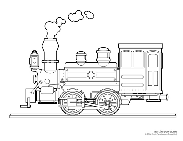 Printable Train Template | Free Train Craft for a Train Birthday Party