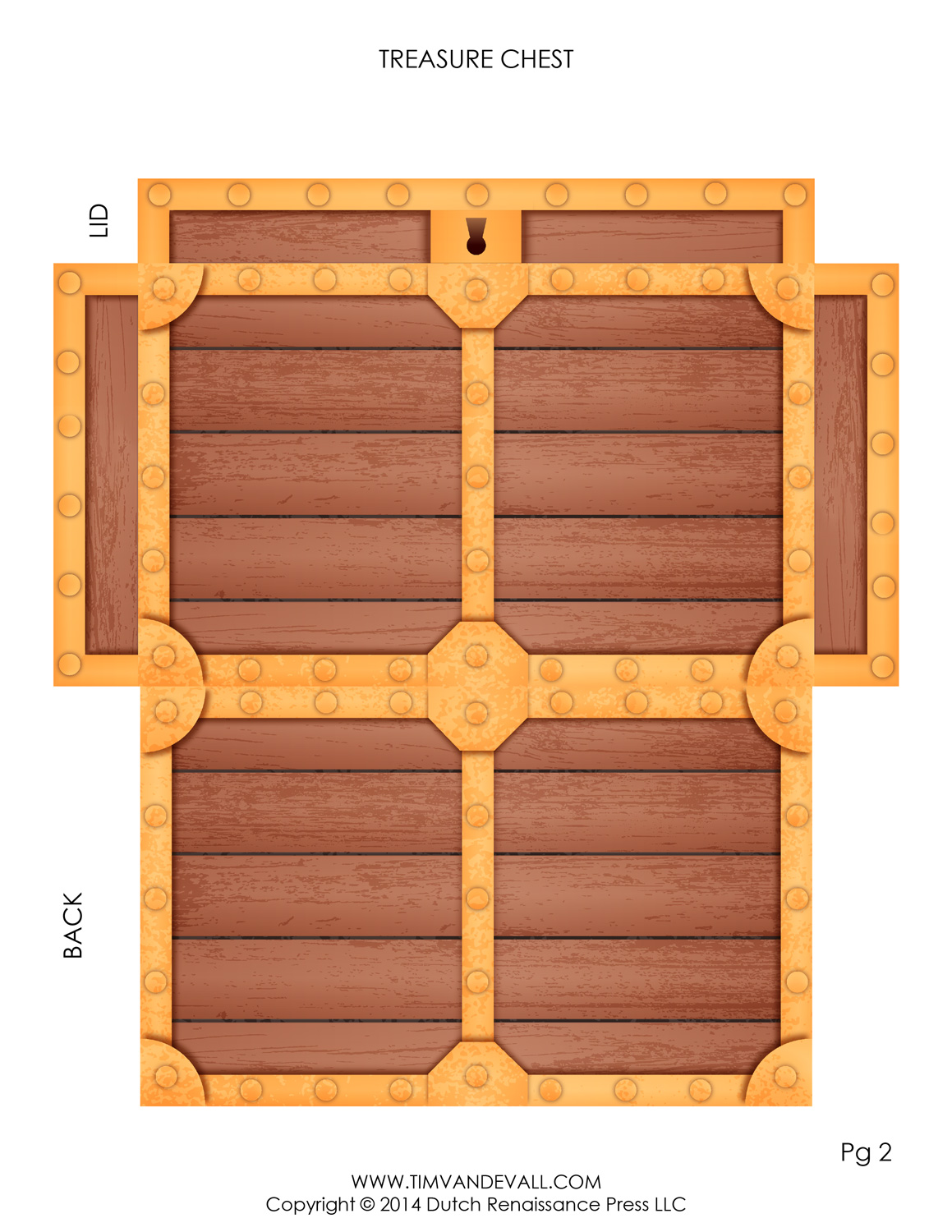 Pirate Treasure Chest Template | Make Your Own Paper ...