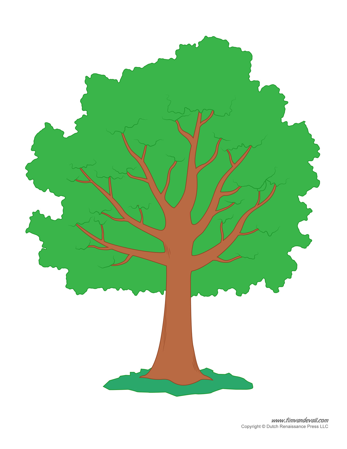 photo regarding Printable Trees referred to as Tree Templates Tree Printables