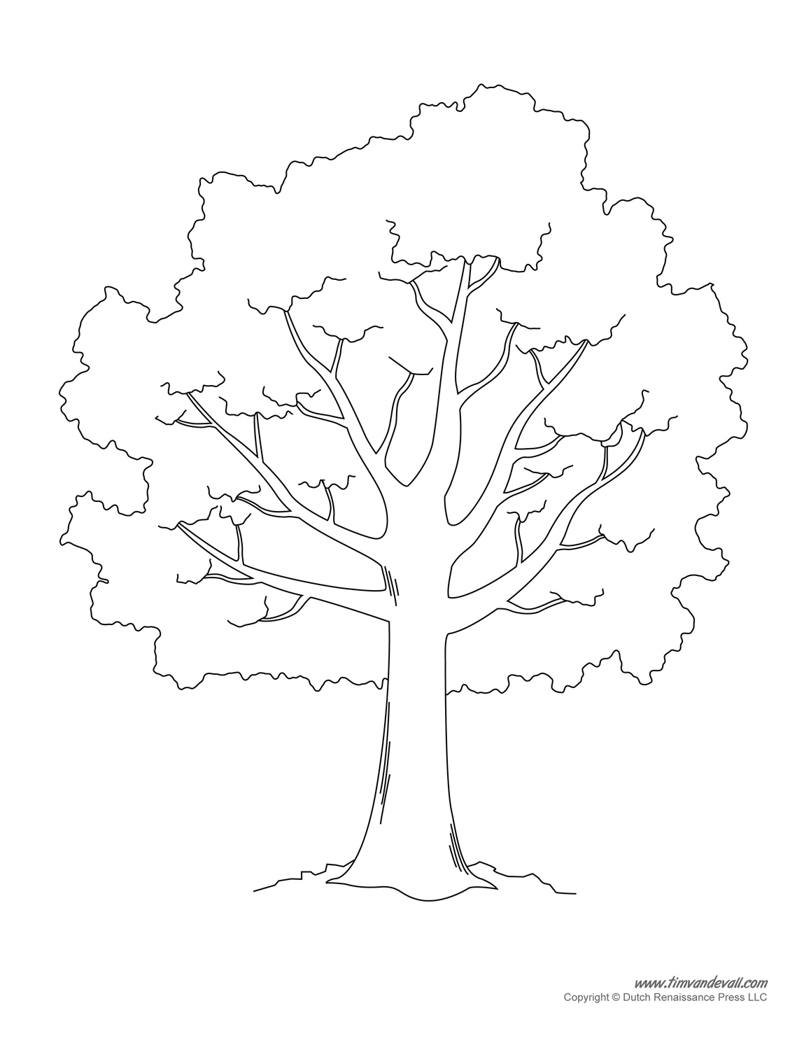 image about Free Printable Tree known as Tree Templates Tree Printables