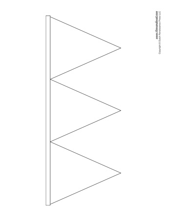 triangle banner template
