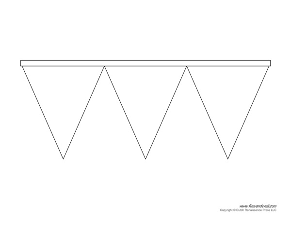 printable pennant banner template triangle banner templates. Black Bedroom Furniture Sets. Home Design Ideas