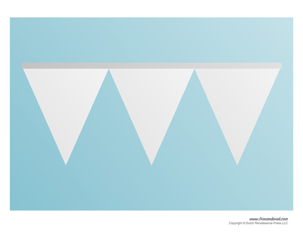 triangle banner template tim s printables