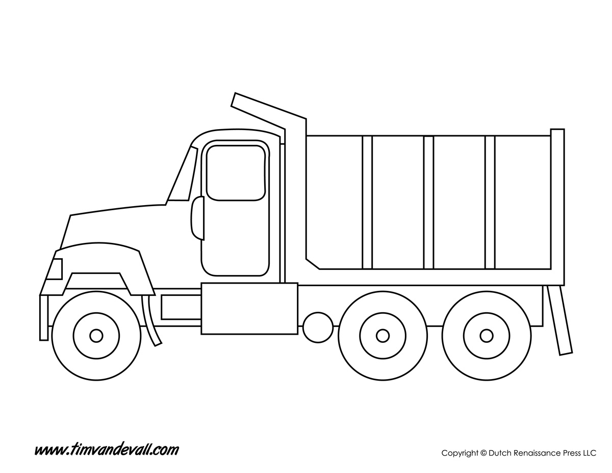 truck coloring page tim u0027s printables