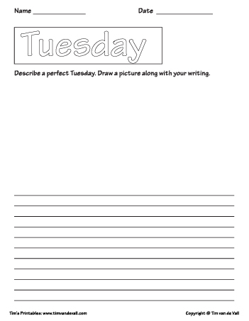 Tuesday printable