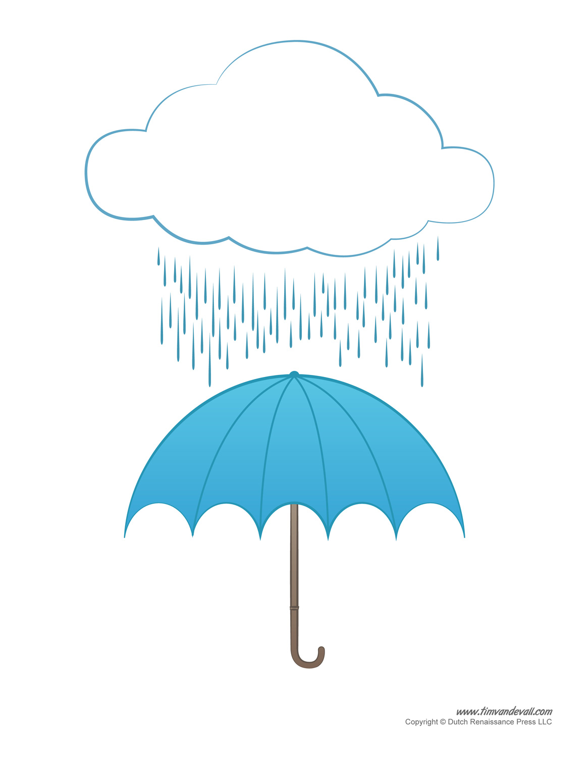 Umbrella Template Printables | Umbrella Decorations