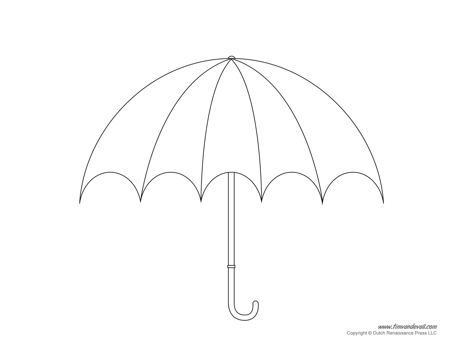 Umbrella Template Printables – Umbrella Template