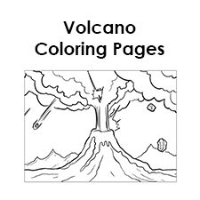 tim van de vall comics printables for kids - Volcano Coloring Pages