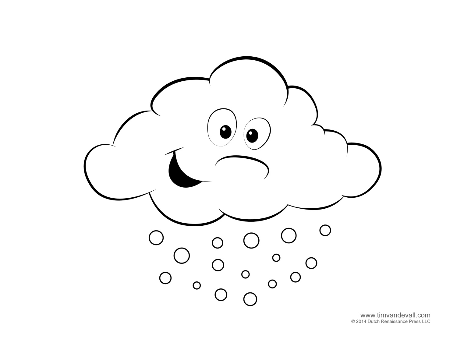 weather coloring page weather printables
