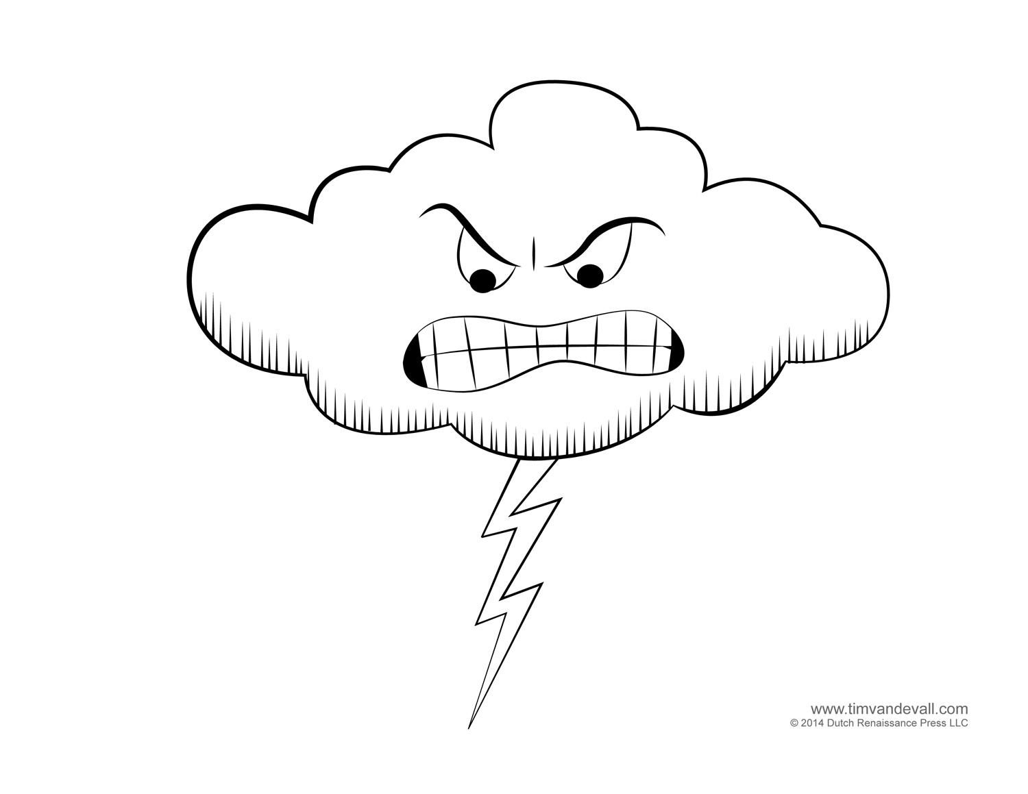 coloring page weather printables