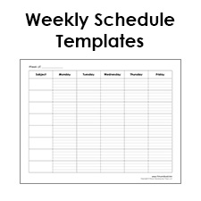 printable weekly schedule template free blank pdf